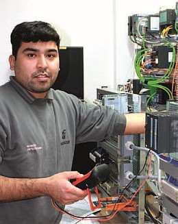 Morteza Hatami is in the third year of his apprenticeship as an electrician for information and system technology at Bilfinger GreyLogix.