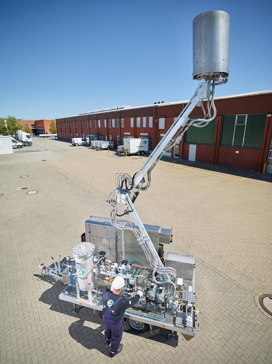 Bilfinger's Mobile Flare Stack Reduces Plant Emissions