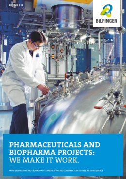 Services for the pharmaceutical and biopharma industry - Bilfinger SE