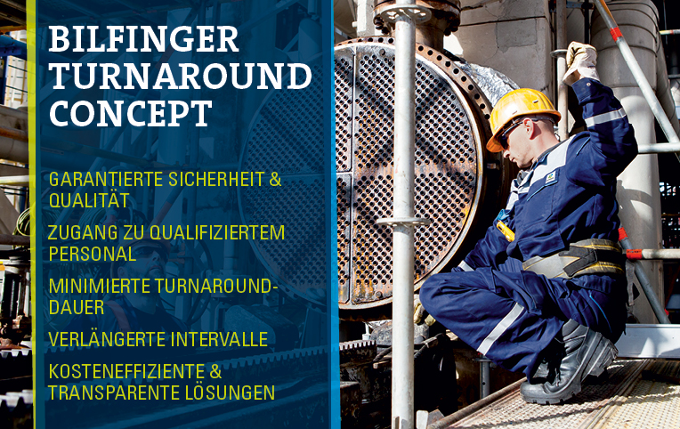 Bilfinger Turnaround Concept - Optimize costs, reduce down time, increase intervals